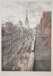 Cheapside in 1823. Engraved by T.M. Baynes from a drawing by W. Duryer.JPG
