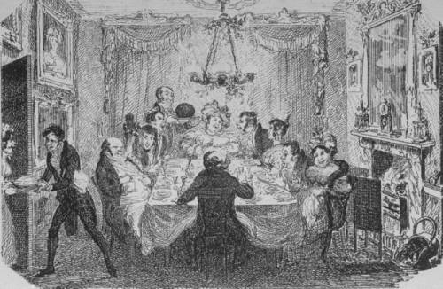 Cruikshank image. Holiday dinner party. Image @LIFE magazine.