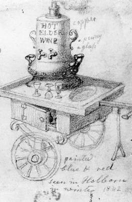 Detail, Elder Win Stand in Holborne, by George Scharff, 1842