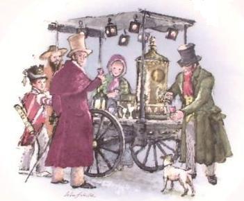Wedgewood. Victorian scene of an elder wine stand