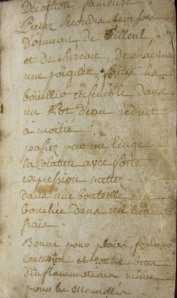 """Recipe for a """"Decoction fameuse,"""" which contains elderberry (among other ingredients). Image @MCRS Rare Book Blog"""