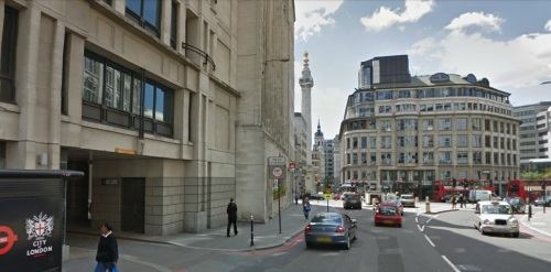 Gracechurch street today (Google maps)