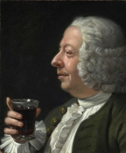 18th century red wine drinker, Franz Laktanz Graf Von Firmian