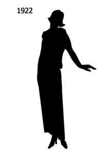 Fashion silhouette for 1922