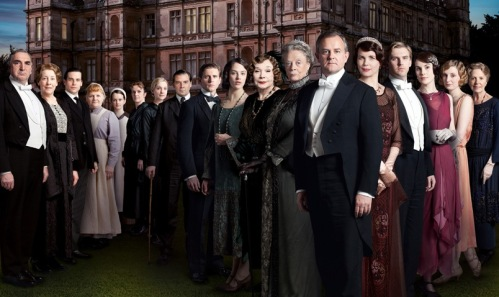 The lawn in front of Downton Abbey is getting crowded!