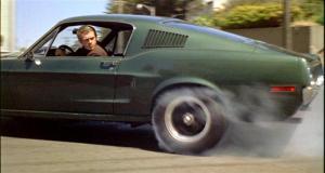 Steve McQueen in mustang