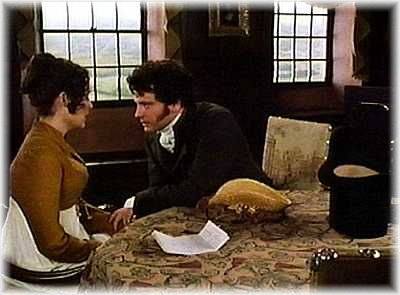 Mr. Darcy listens to Elizabeth about Lydia's predicament, then quietly goes about rectifying the situation and helping Lydia out of a scrape. A true romantic hero.