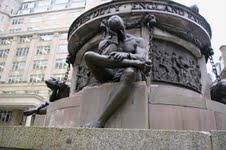 Nelson Memorial. A slave in chains. Image courtesy @Tony Grant