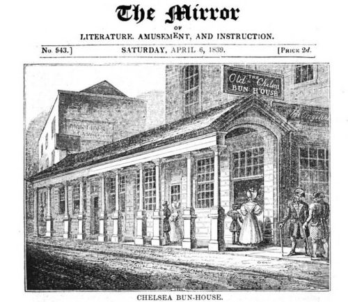 Chelsea Bun-House image from The Mirror, Google eBook