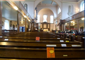 Interior of Clapham Holy Trinity Church, image @ Tony Grant