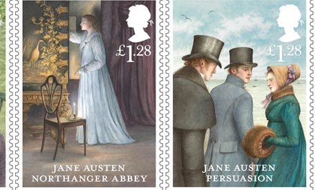 Jane Austen 200th anniversary Royal Mail stamps