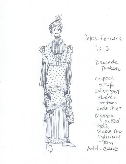 Mrs. Ferrars costume sketch