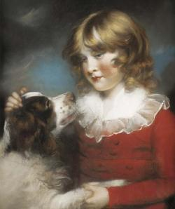 John Russel, Boy with spaniel. Image @ Christie's.