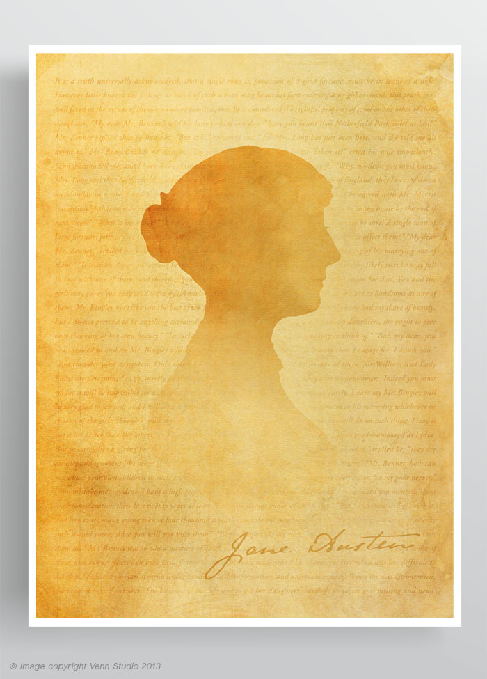 Celebrating Pride and Prejudice: Jane Austen Poster print and ...