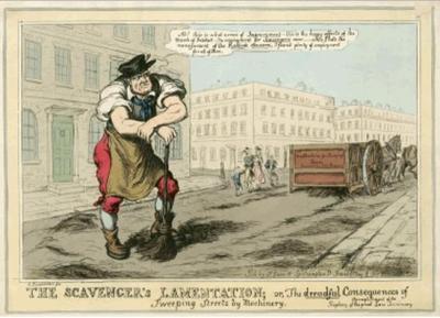 street sweeper and machine