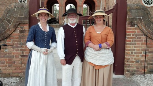 Guides in front of the Governor's Palace, Williamsburg
