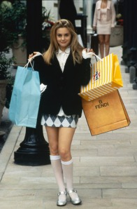Alicia Silverstone as Cher in Clueless, a modern adaptation of Emma
