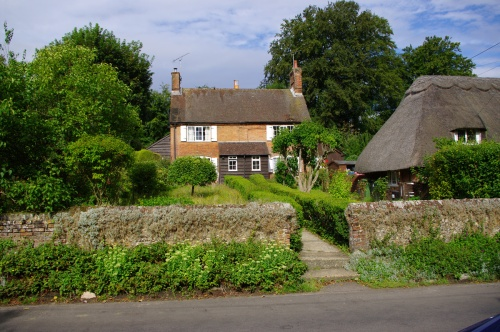 Cottages and gardens in the village. Image@Tony Grant