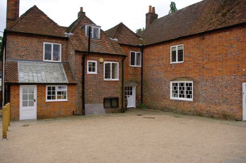 The courtyard. Chawton Cottage Image@Tony Grant