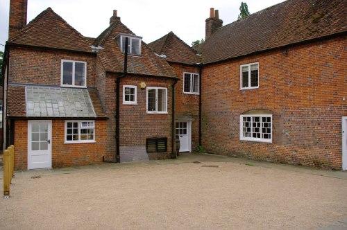The courtyard. Chawton Cottage Image@Tony Grant