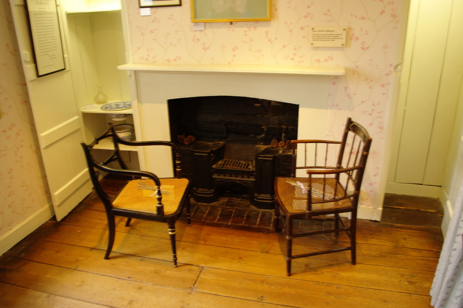 Fireplace in Jane's and Cassandra's shared bedroom. Chawton Cottage Image@Tony Grant