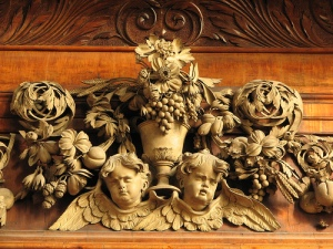 Carving design by Grinling Gibbons