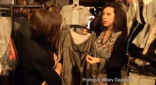 Professor Hillary Davidson explains the personal involvement that people had in their clothes, which were hand made.