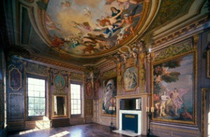 Baroque interior of the King's apartments, Hampton Court. Click on image for source.