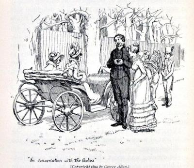 At the parsonage gate with Lady Anne her companion and the Collinses.