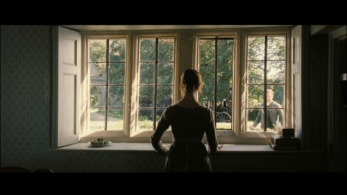 Charlotte at the window. Pride and Prejudice 2005