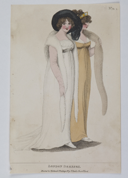 Fashions of London and Paris, 1804. @Museum of London