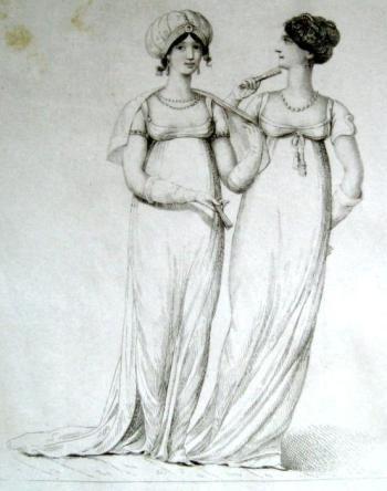 La Belle Assemblee, opera and drawing room gowns, 1806