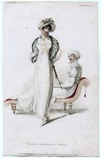 Ackermann, walking and morning dresses, 1810