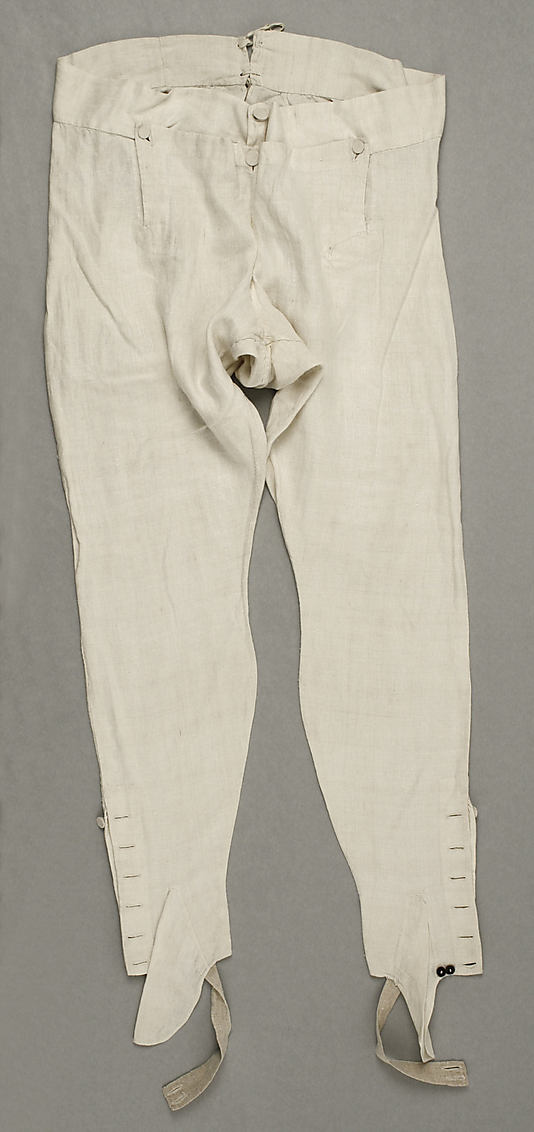 These Slim Pants Were Often Worn With Hessian Boots To Help Maintain