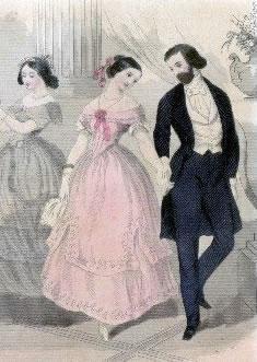 1850's ballroom scene.