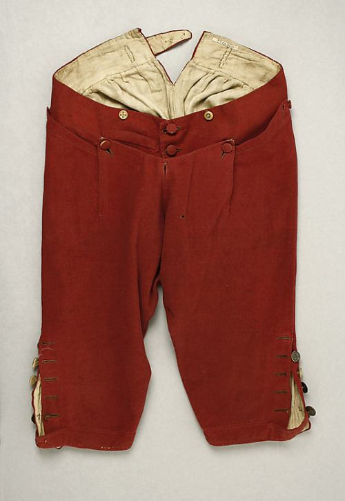 Bfreeches with flap front closed. Image @Met Museum