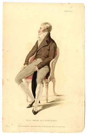 Full Dress of a Gentleman, 1810.