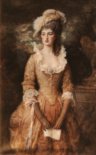 Lady CdeB much as I envision her in her younger years. Painting by Gainsborough.