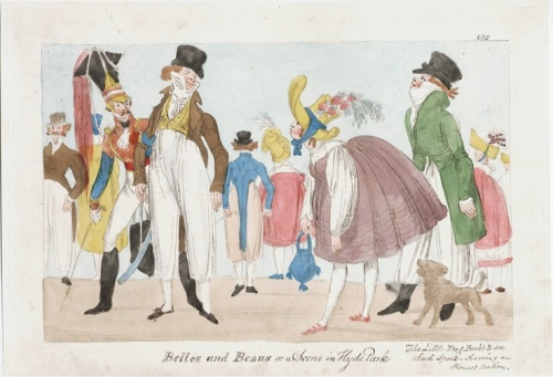 Scene in Hyde Park in 1817 shows a combination of trousers