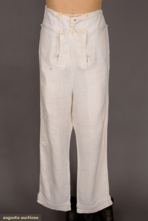 Trousers with a fall front, 1820. Image @Augusta Auctions