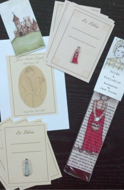 Bookmarks and book plates. How lovely.
