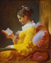 A Young Girl Reading, or The Reader (French: La Liseuse), is an 18th-century oil painting by Jean-Honoré Fragonard. Image @Wikipedia