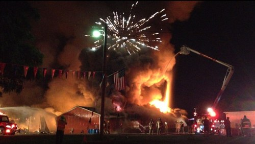 Indiana fireworks explosion @Daily Mail