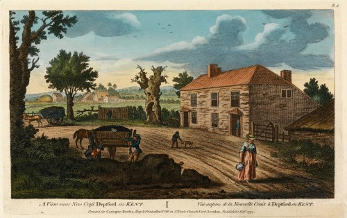 Dirt road, a view near New Cross Deptford in Kent, 1770. artist unknown Yale University, Mellon Collection.