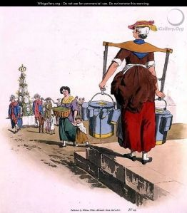 milk woman, william henry pyne, 1805