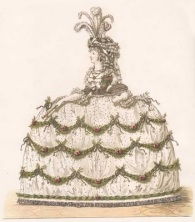 Court dress, Heideloff gallery, 1794-95