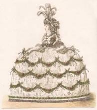 Court dress, Heideloff gallery, 1794-95