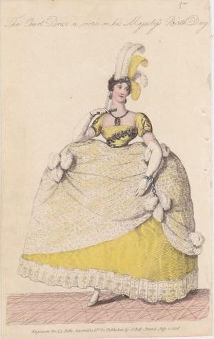 1808 La Belle Assemblee court dress