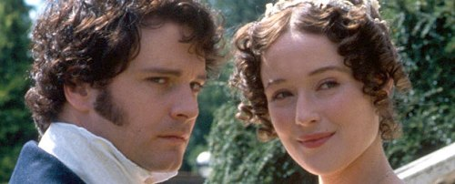Colin Firth as Mr. Darcy and Jennifer Ehle as Elizabeth Bennet