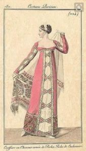 1811 shawl and shawl gown